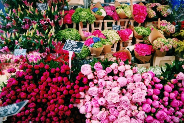 Цветочный рынок в Лондоне
